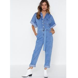 Denim Boilersuit from Nasty Gal